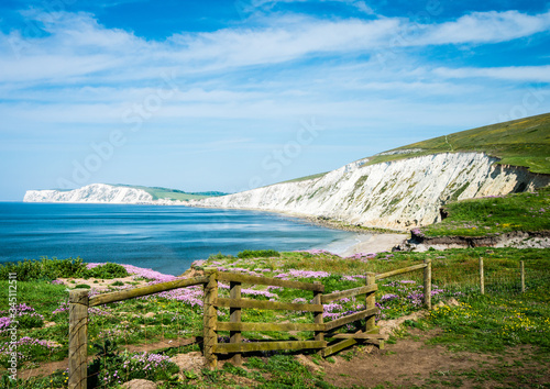 Photo view of the coast of the sea, Compton Isle of Wight