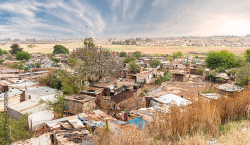 Valokuva Poor townships next to Johannesburg, South Africa