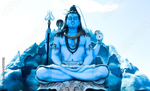 Photo Shiva God statue in Near Surat, Gujarat.