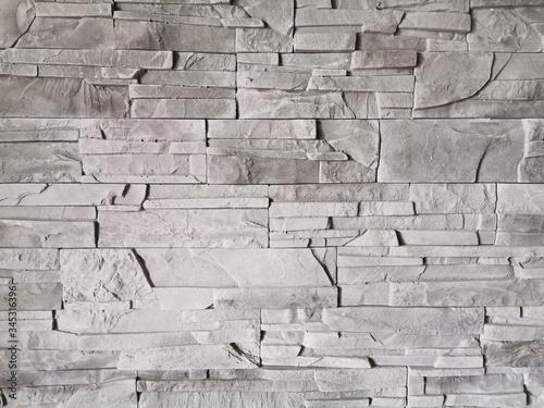 Fototapeta premium Ściana kamień ozdobny szary