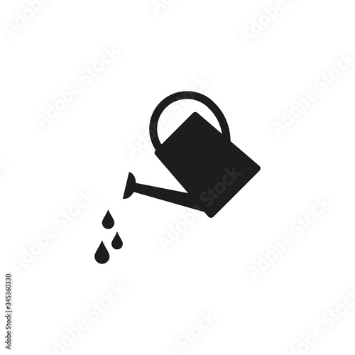 Obraz na plátně Watering can icon. Irrigation. Vector. Isolated.