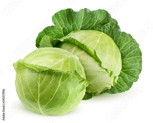 Fotografia, Obraz cabbage isolated on white background, clipping path, full depth of field