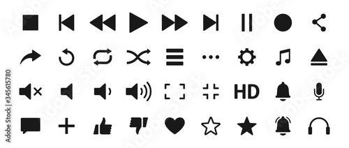 Photo Set of Media player icons