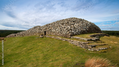 Foto Grey Cairns of Camster Neolithic Chambered site in Caithness