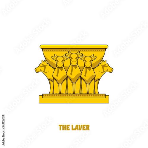 Fotografia, Obraz The laver, set in the tabernacle and temple of Solomon
