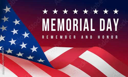 Fotografie, Obraz Memorial Day - Remember and Honor Poster