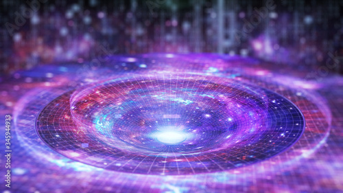 Fotografiet Gravitational lens effect