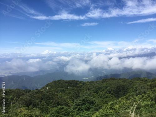 Fototapeta Lush landscape of Mount Ibuki