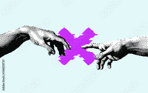 Fotomural Hands not going to touch together