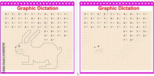 Fotografija Graphic dictation Copy the graphic image