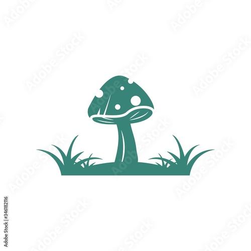 mushroom vector illustration icon design Fototapeta