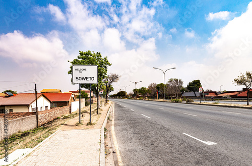 Valokuva Soweto Townships town sign in Johannesburg, South Africa