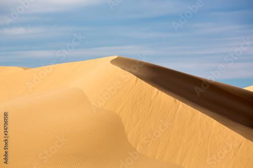 Canvas-taulu Sand Dunes At Desert Against Sky