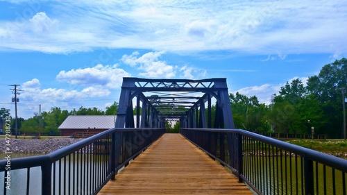 Fotografie, Tablou Footbridge Over River