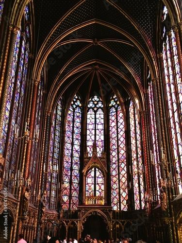 Fotografie, Obraz Interior Of Sainte-chapelle