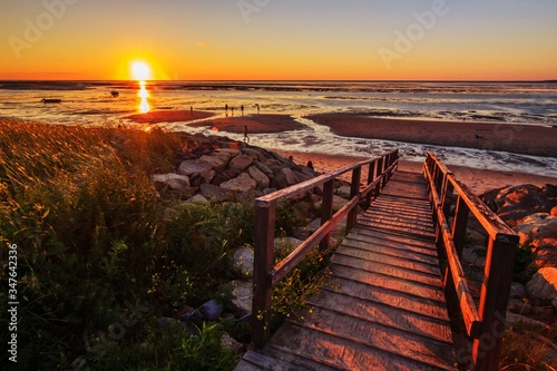 Fotografie, Obraz Scenic View Of Sea Against Sky During Sunset