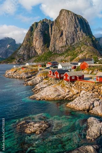 Carta da parati Beautiful vertical shot of Hamnoy,  Lofoten Islands, Norway