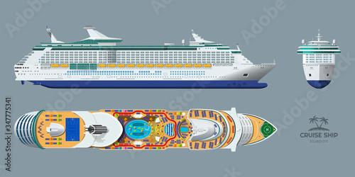 Fotografia Isolated blueprint of cruise ship
