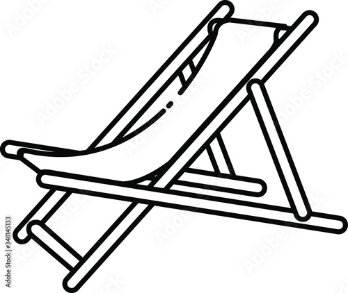 Photographie beach chair icon , vector illustration
