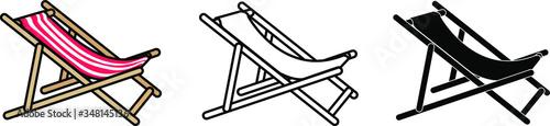 Fotografia beach chair icon , vector illustration