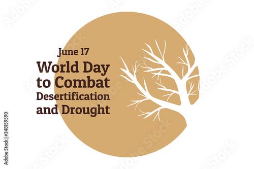Slika na platnu The World Day to Combat Desertification and Drought