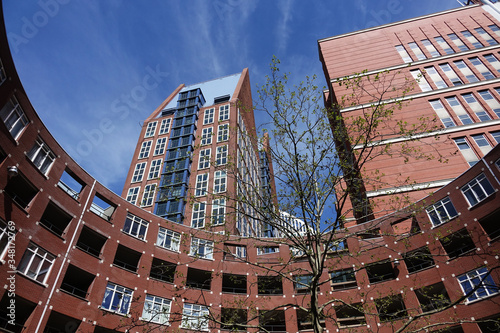 Netherlands. The modern offices and parlement buildings in The Hague