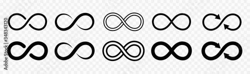 Stampa su Tela Infinity design logo icon set