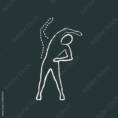 Canvas trunk lateral flexion, chalk icon