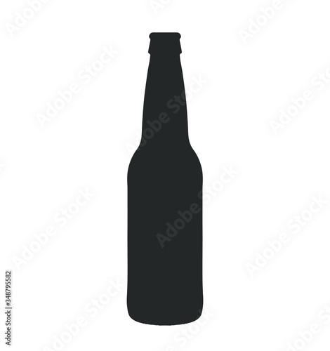 glass beer bottle icon shape symbol. Vector illustration image. Isolated on white background.