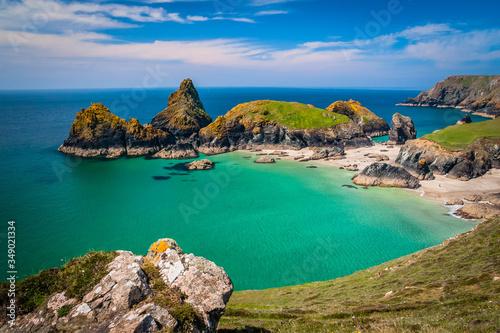 Fotografia Famous Kynance cove in Cornwall, UK