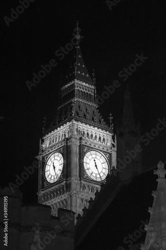 Big Ben Against Sky At Night