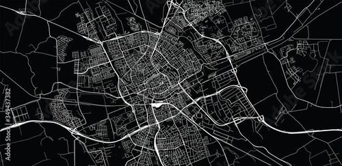 Obraz na plátně Urban vector city map of Groningen, The Netherlands