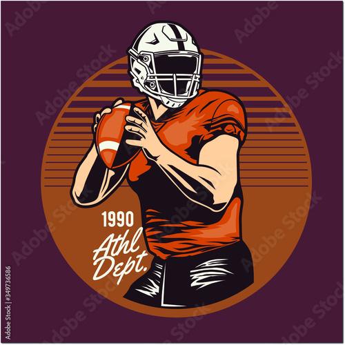 Tablou Canvas american football player