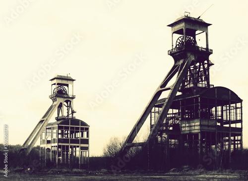 Obraz na plátně Abandoned Pit Mines Clear Sky