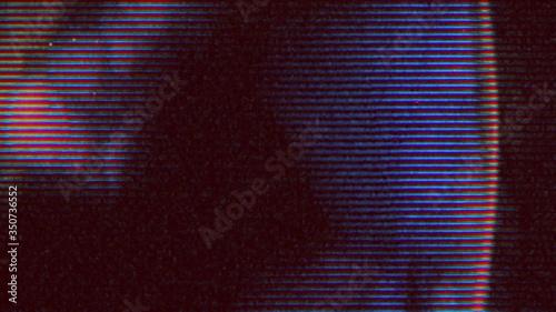 Obraz na plátně Vintage horror looping film strip melting background