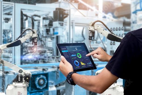 Carta da parati Smart industry control concept