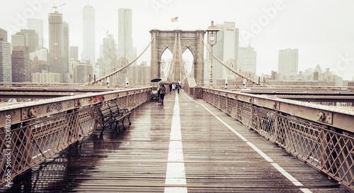 Obraz na płótnie brooklyn bridge new york