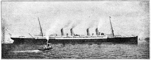 Fotografie, Obraz German transatlantic ocean liner SS Kaiser Wilhelm der Grosse
