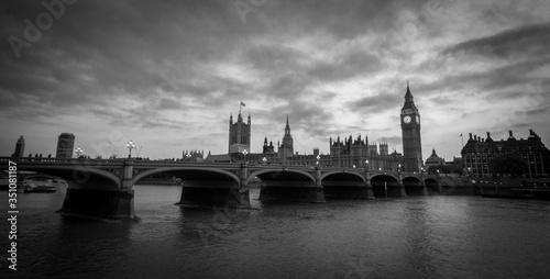 Fotografie, Obraz Westminster Bridge Over Thames River Against Sky