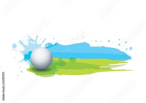 golf ball in golf course Tapéta, Fotótapéta
