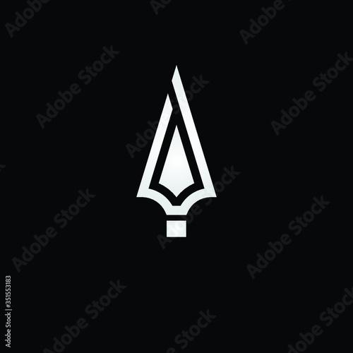 spear logo design icon vector Fototapeta