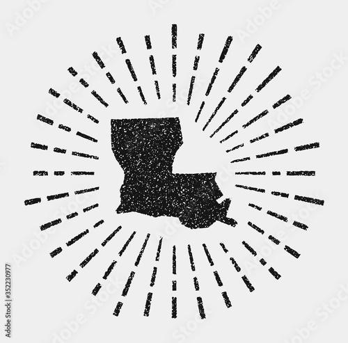 Платно Vintage map of Louisiana