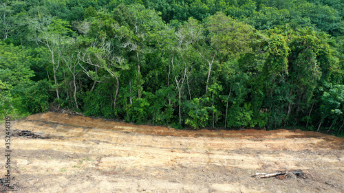Fotografie, Tablou Deforestation of rainforest for mining, industry and agriculture