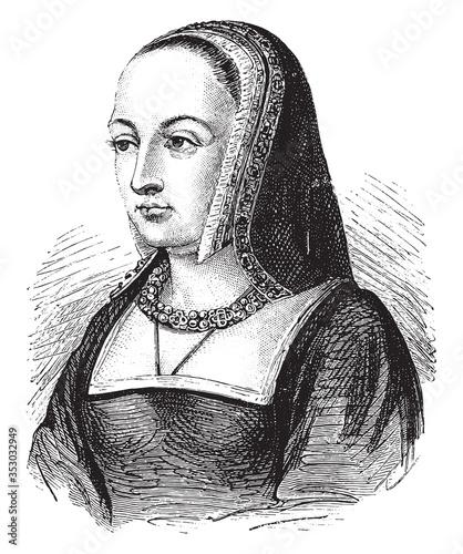 Canvas-taulu Anne of Brittany. vintage illustration.