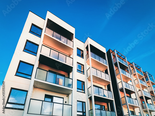 Canvas-taulu Apartment house home residential building real estate copy space_4x3