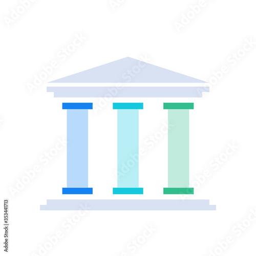 Obraz na plátně Three pillars diagram. Clipart image isolated on white background