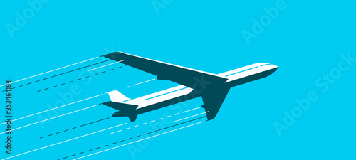 Fotografiet Flying airplane
