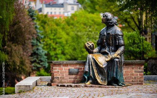 Wallpaper Mural Monument of great astronomer Nicolaus Copernicus, Olsztyn, Poland