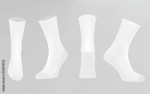 Foto White socks. vector illustration