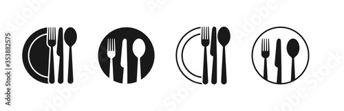 Fotografie, Obraz Set of fork, knife, spoon